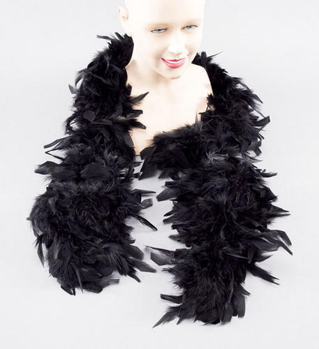 Nero lungo di 2m Feather BOA Moulin Rouge Can Can DANCER DRAG QUEEN Fancy Dres