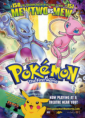 A0 A1 A2 A3 A4 Sizes Pokemon The First Movie Giant Poster