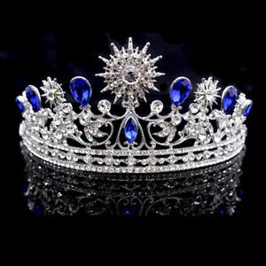 Women-Vintage-Rhinestone-Crown-Tiara-Wedding-Bridal-Pageant-Headband-IOJC-amp-t