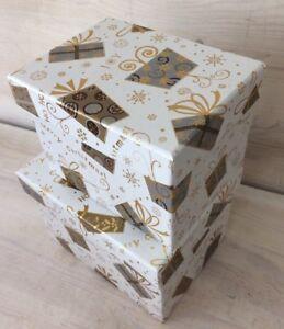 Geschenkkarton Weihnachten.Details Zu Geschenkbox Weihnachten Geschenkkarton Geschenkschachtel Schachtel Karton 2stück
