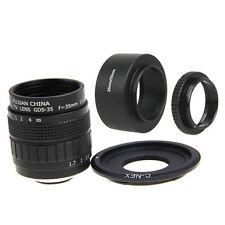 Fujian 35mm F1.7 CCTV Movie lens+C Mount +Hood to SONY NEX-5R A6500 A6300 A6000