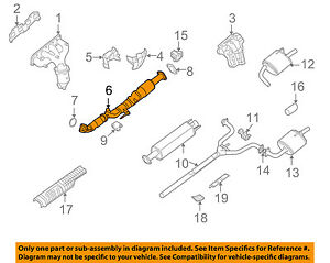 nissan oem 07 09 altima 2 5l l4 exhaust system front pipe 20010ja00aimage is loading nissan oem 07 09 altima 2 5l l4