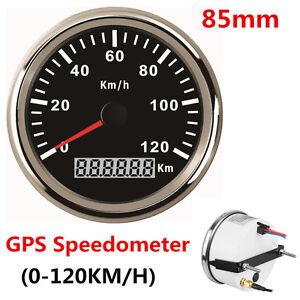 Waterproof GPS Digital Speedometer Gauge 120KM/H For Auto Car Truck
