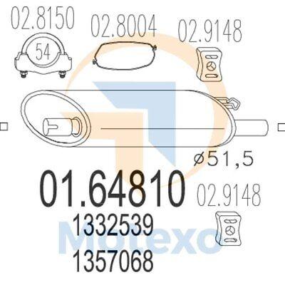 Affidabile Mts 01.64810 Scarico Volvo 740 2.0i 112bhp 08/90 - 09/92-