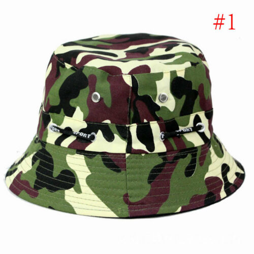 Summer Men Fishing Hiking Cap Hats Bucket Wide Brim UV Protective Hats Outdoor