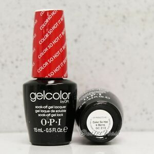 Details About Opi Gelcolor Reds Collection Gc Z13 Color So Hot It Berns 15 Ml Gel Nail Polish