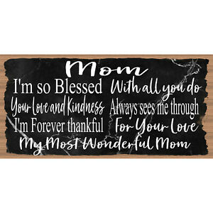 Details about Mom Sign Mom- GS 2875 -Mother Wood plaque - Mothers Day  --GiggleSticks