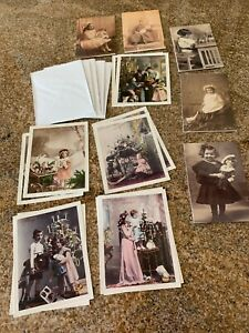 Lot-of-NEW-Vintage-VICTORIAN-style-Antique-Dolls-Greeting-CARDS-Postcards