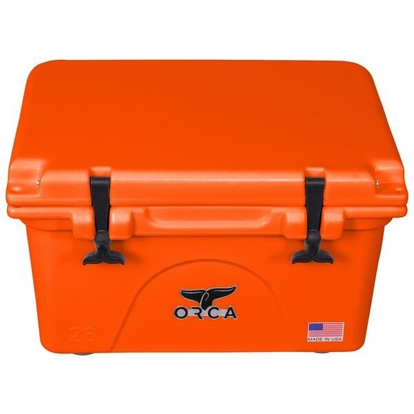 ORCA 26 QT BLAZE Orange COOLER   LIFETIME WARRANTY  26 QUART BLAZE Orange COOLER