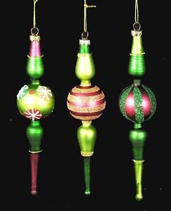 3er Set Christbaumschmuck Kugeln Zapfen Ornament Baumschmuck Glas