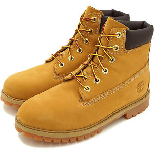 Timberland 6 Inch Waterproof Junior 12909 Wheat Nubuck