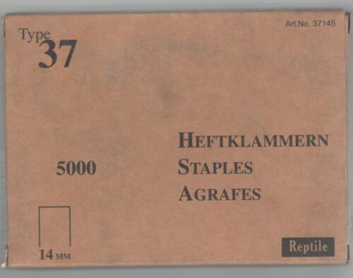 Tackerklammern Heftklammern Typ 37 14mm 5000 Stück