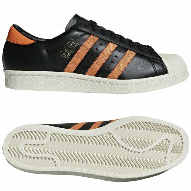 Retro Superstar Orange New Adidas Black Og Shoes 80s Sneakers mnwO08vN