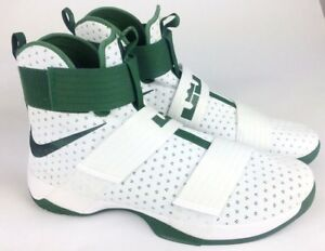 4939f303152f New NIKE Lebron James Soldier 10 Ten Shoes Size 18 White   Green ...