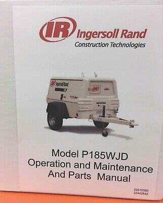 Ingersoll Rand P185wjd Air Compressor Manual Ebay
