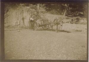 Snapshot Carro Fotografia Originale Vintage Citrato Ca 1900 ND49
