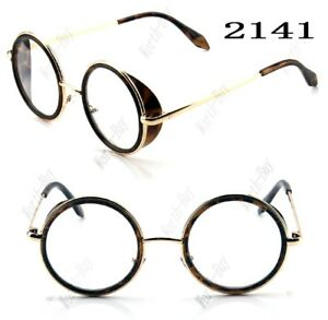 New-John-Lennon-Round-Fashion-Clear-Lens-Glasses-Gold-Frame-Hipster-Steampunk