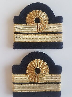 galons aviation paire epaulette or 3 bandes