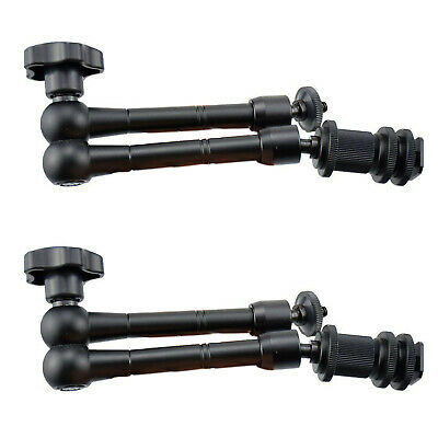 """11/"""" Articulating Adjustable Friction Magic Arm Hot Shoe Mount 360° Ball Heads"""