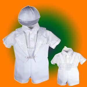 Baby-Boy-Communion-Christening-Baptism-Outfit-Tuxedo-Suit-size-012345-0-36M