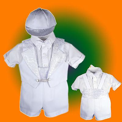 Baby Boy Communion Christening Baptism Outfit Tuxedo Suit size 012345 (0-36M)