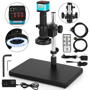 Digital-Video-Microscope-Camera-HDMI-USB-LED-Magnifier-Industrial-14MP-New