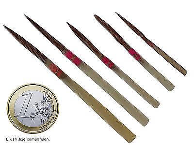 DA VINCI Natural Quill Brushes 5 pcs - Pure Kolinsky Red Sable - Vintage