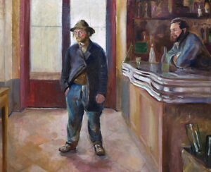 In-The-Tavern-Edvard-Munch-Wall-Art-Print-CANVAS-Painting-Giclee-Poster-Small
