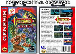 Castlevania-Bloodlines-Sega-Genesis-Custom-Case-NO-GAME
