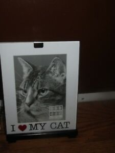 Sixtrees I Love My Cat Picture Frame 5 X 7 Ebay