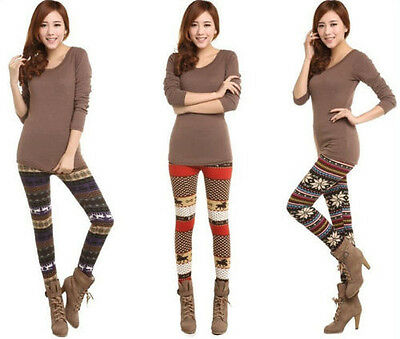 Women Skinny Colorful Print Leggings Stretchy Sexy Jeggings Slim Pencil Pants