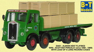 Base-Toys-Albion-HD57-F-Bed-BRS-Scottish-Parcels-DA61-OO-Scale