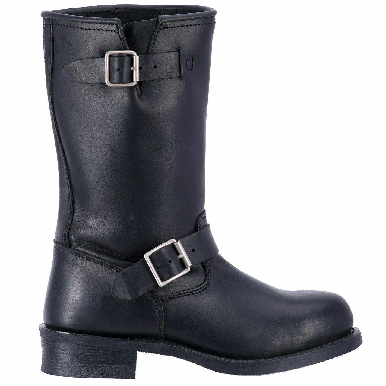 Dingo hombre cuero botas de vaquero occidental DI19040 Negro