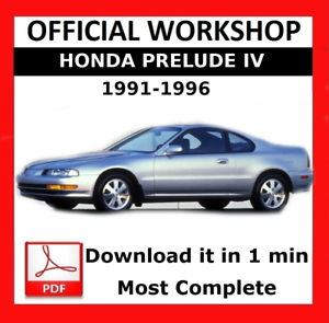 official workshop manual service repair honda prelude 1991 1996 rh ebay co uk 1992 Honda Prelude 1991 Honda Prelude Si