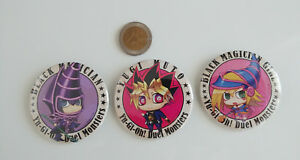 Yu-Gi-Oh-Yugi-Muto-Dark-Magician-Girl-Black-Magician-Badges-Buttons-Can-Badge