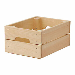 Image Is Loading Ikea Wooden Storage Kitchen Wedding Timber Bo Crate