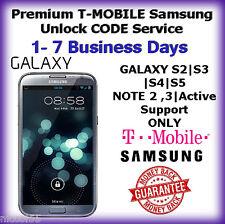 T-MOBILE Premium Samsung Galaxy S2 S3 S4 S5 Note 2,3 USA Unlock CODE Service