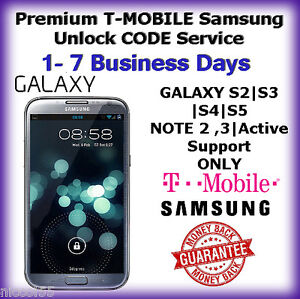 Details about T-MOBILE Premium Samsung Galaxy S2 S3 S4 S5 Note 2,3 USA  Unlock CODE Service