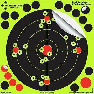 25-Pack-8-Reactive-Splatter-Gun-Rifle-Pistol-Shooting-Targets-Glow-Shot-New