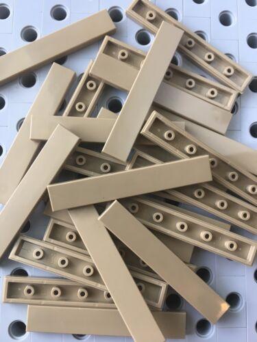Lego 1x6 Dark Tan Smooth Finishing Flat Tiles Modular Buildings Floor New 12pcs