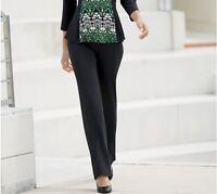 Womens Monroe & Main Take It Away Black Pant Plus Size 20w 20 W