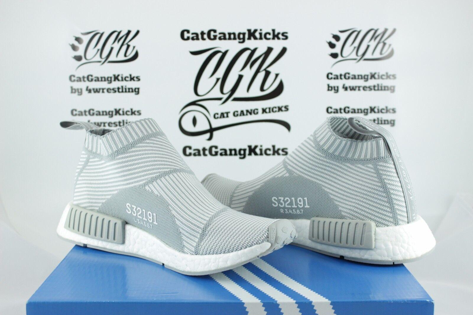 Ds adidas nmd cs1 pk stadt socke primeknit s32191 weißes - licht graue graue sz - weißes 6 3bf53c