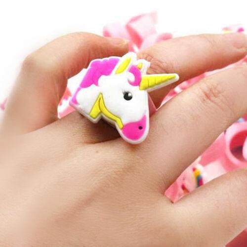 1//5//10 PCS Unicorn Finger Rings Party Favors Recuerdos Regalo Unicornio Supplies