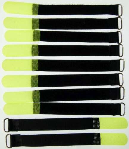 10x Velcro Cable Ties 16 cm x 16 mm neon Yellow Velcro Straps Cable Velcro loops