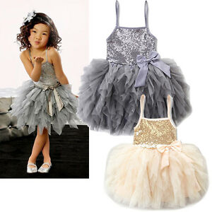 Image Is Loading Cute S Princess Dress Kids Baby Party Wedding
