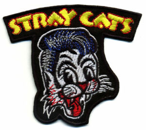 Stray-Cats-Patch-Badge-retro-rockabilly-hot-rod-iron-on-greaser-jacket-vest