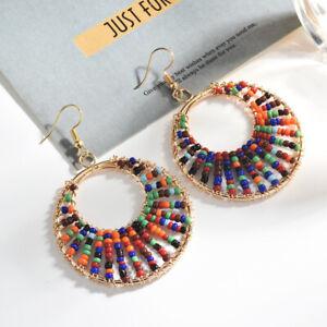 Big-Colours-Jewelry-Charm-Beads-Hoop-Gift-Earrings-Round-Pendant-Wedding-Women