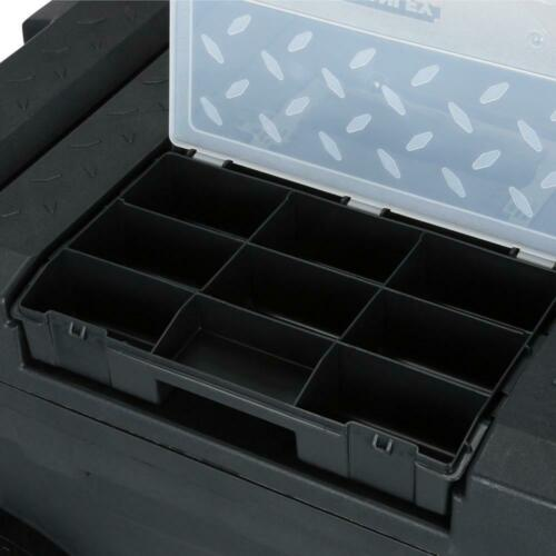 Rolling Toolbox Upright Mobile Stacking Trolley Wheeled Tool Box Chest Organizer