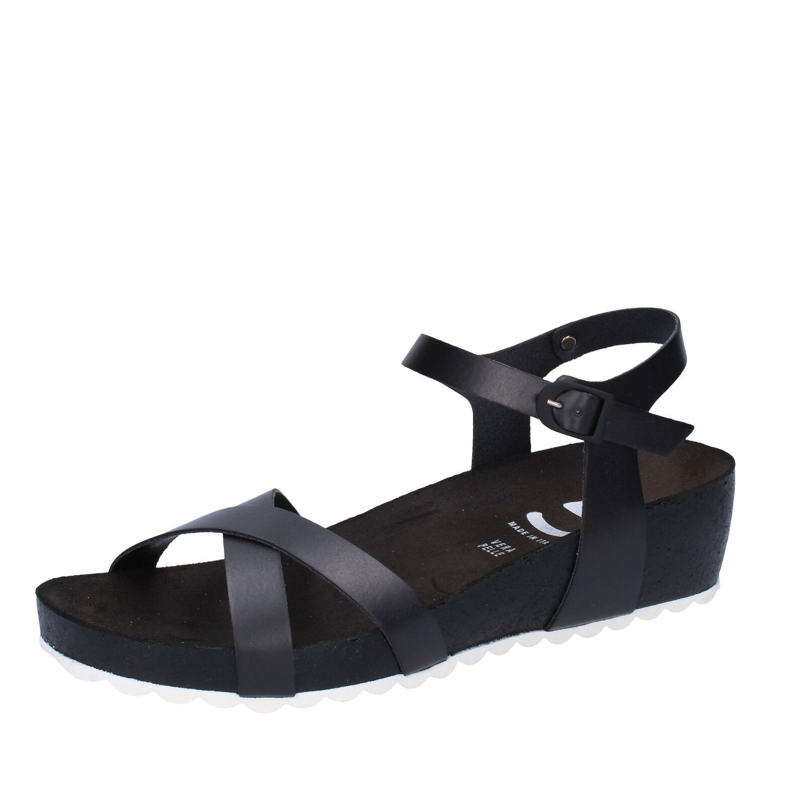 Scarpe donna sandali 5 PRO JECT 36 EU sandali donna nero pelle AC700-B e85d17