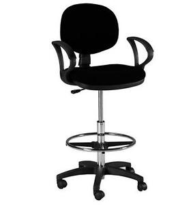 Counter Drafting Height Office Chair Stool W Arms